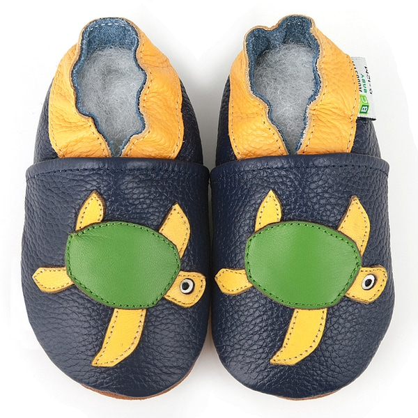 Sea Turtle Truck Soft Sole Leather Baby Shoes