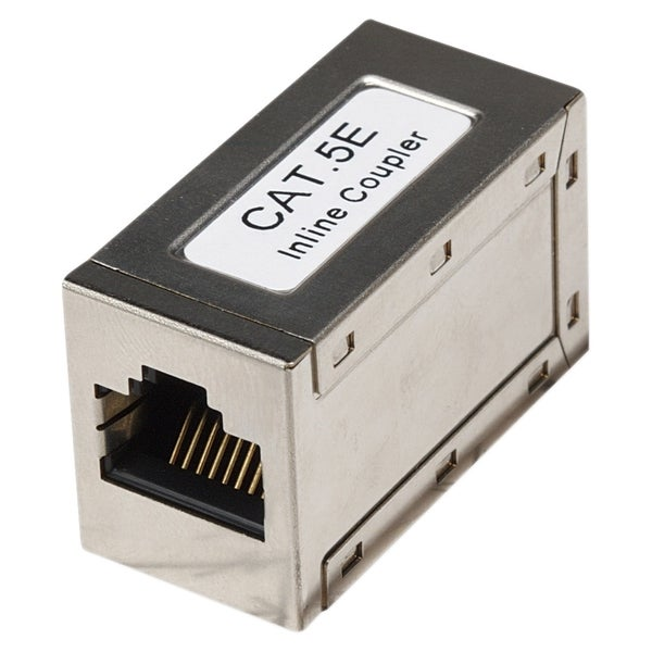 Intellinet Cat5e FTP Modular Inline Coupler, Silver