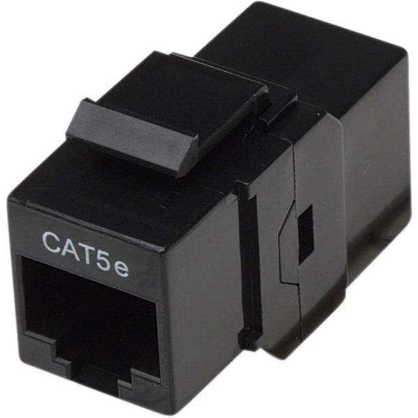 Intellinet Cat5e UTP Inline Coupler, Keystone Type, Black