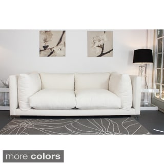 Decenni Custom Furniture 'Nuvola' White 7-foot Sofa