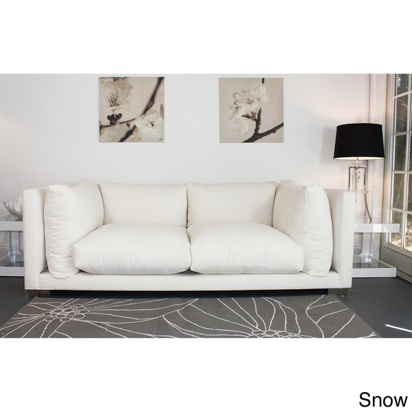 Modern White 'Nuvola' 7-foot Sofa by Decenni Custom Furniture