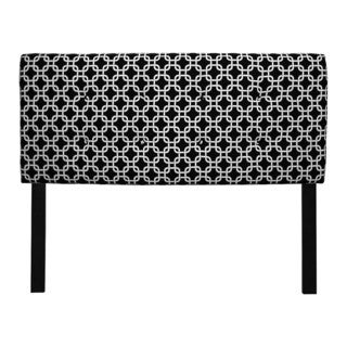 8-button Tufted Black and White Chains Headboard