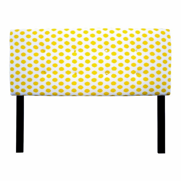 8-button Tufted Jojo Yellow Headboard