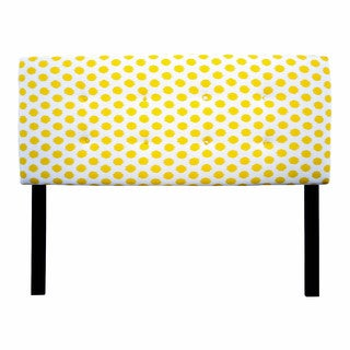 8-button Tufted Jojo Yellow Headboard