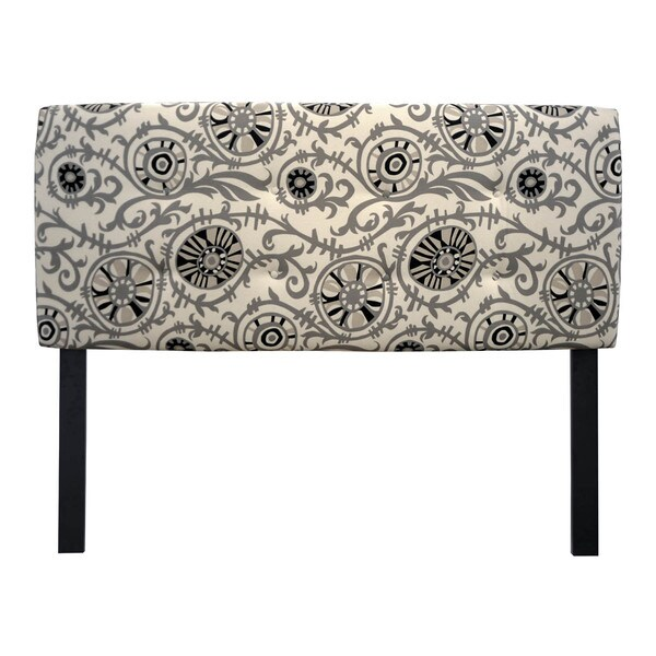 8-button Tufted Suzani Vine Headboard