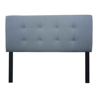 8-button Tufted Candice Bay Blue Headboard