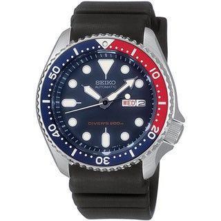 Seiko Men's '5 Automatic' Blue-dial Water-resistant Automatic Watch