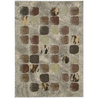 Nourison Modesto Blocks Beige Area Rug (5'3 x 7'5)