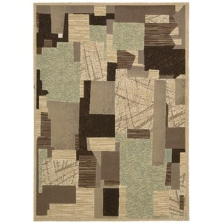 Nourison Modesto Abstract-pattern Beige Area Rug (5'3 x 7'3)