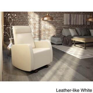Dutailier Upholstered Glider (White, Light Grey, or Light Brown)