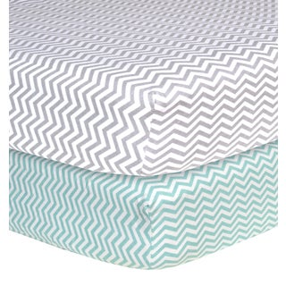 Trend Lab Chevron Flannel Crib Sheets (Pack of 2)