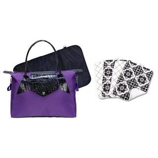 purple diaper bags overstock shopping the best prices online. Black Bedroom Furniture Sets. Home Design Ideas