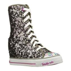 Girls' Skechers Twinkle Talls Gimme Rockstar Chick Gun Metal/Purple