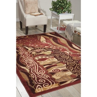 Nourison Modesto Red Transitional Area Rug (5'3 x 7'3)