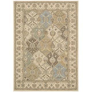 Nourison Modesto Oriental-pattern Beige Area Rug (5'3 x 7'3)