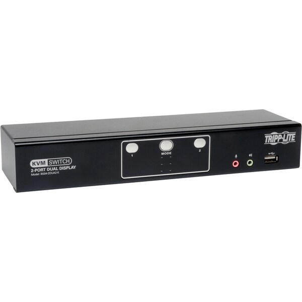 Tripp Lite 2-Port Dual Monitor DVI KVM Switch with Audio and USB 2.0