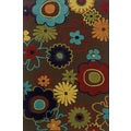Machine-woven Indoor/ Outdoor Brown/ Multicolor Polypropylene Area Rug (1'9 x 3'9)