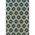 Indoor/Outdoor Ivory/ Blue Polypropylene Area Rug (1'9 x 3'9)