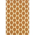 Indoor/Outdoor Ivory/ Orange Polypropylene Area Rug (1'9 x 3'9)