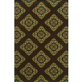 Durable Indoor/ Outdoor Brown/ Multicolor Polypropylene Area Rug (1'9 x 3'9)