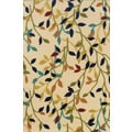 Indoor/ Outdoor Ivory/ Multicolor Floral Polypropylene Area Rug (1'9 x 3'9)