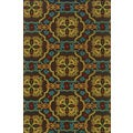 Indoor/ Outdoor Brown/ Multicolor Polypropylene Area Rug with High/ Low Effect (1'9 x 3'9)