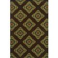 Indoor/Outdoor Brown/ Multicolor Polypropylene Area Rug (2'5 x 4'5)