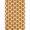 Indoor/Outdoor Ivory/ Orange Polypropylene Area Rug (2'5 x 4'5)