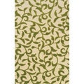 Indoor/Outdoor Ivory/ Green Polypropylene Area Rug (2'5 x 4'5)