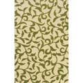 Indoor/ Outdoor Ivory/ Green Area Rug (3'7 x 5'6)
