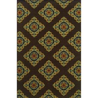 Indoor/ Outdoor Brown/ Multi Polypropylene Area Rug (3'7 x 5'6)