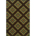 Indoor/ Outdoor Brown/ Multi Area Rug (5'3 x 7'6)