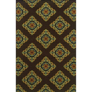 Indoor/ Outdoor Brown/ Multi Area Rug (6'7 x 9'6)