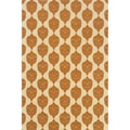 Indoor/ Outdoor Ivory/ Orange Area Rug (6'7 x 9'6)
