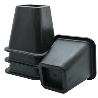 Black Square Bed Risers (Set of 4)