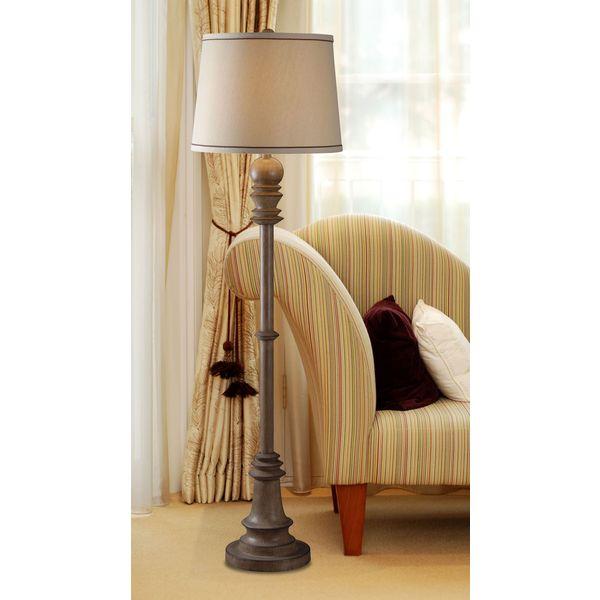 Manicopa 1-light Aruba Teak Floor Lamp
