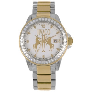 Jivago Women's 'Folie' Stainless Steel Gold and Silver Watch with Diamond Accents