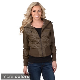 Hailey Jeans Co. Junior's Ribbed Collar Jacket