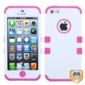 BasAcc Ivory White/ Hot Pink TUFF Case for Apple iPhone 5