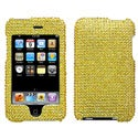 BasAcc Gold Diamante Faceplate Case for Apple iPod touch 2