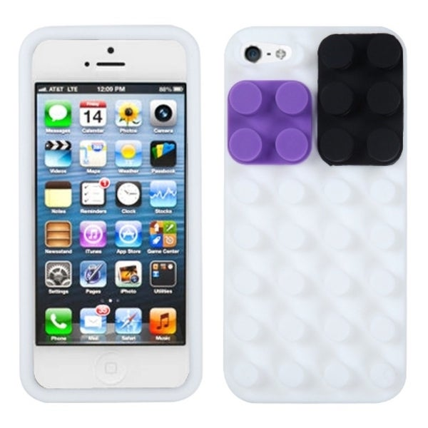 INSTEN White Blocks Phone Case Cover for Apple iPhone 5