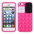 BasAcc Hot Pink Blocks Case for Apple iPhone 5