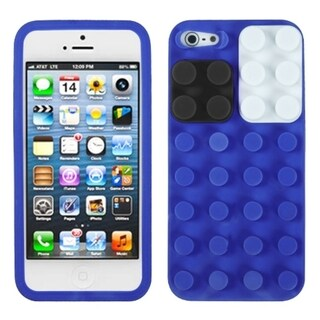 BasAcc Electric Blue Blocks Case for Apple iPhone 5