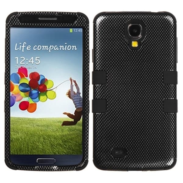 INSTEN Carbon Fiber/ Black TUFF Phone Case Cover for Samsung Galaxy S4