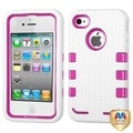 BasAcc Natural Hot Pink/ White TUFF Case for Apple iPhone 4/ 4S