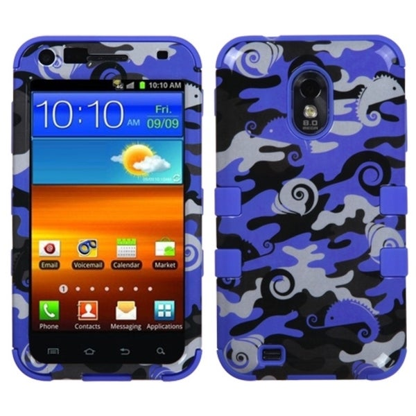INSTEN Blue Camo/ Violet Blue TUFF Phone Case Cover for Samsung Galaxy S II 4G