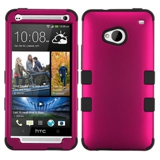 BasAcc Titanium Solid Hot Pink/ Black TUFF Case for HTC One/ M7