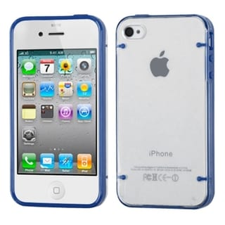 BasAcc T-clear/ Dark Blue Tentacles Case for Apple iPhone 4/ 4S