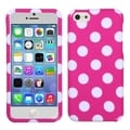BasAcc White/ Hot Pink Polka Dots Case for Apple iPhone 5C