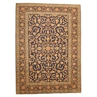 Persian Hand-knotted Isfahan Navy/ Blue Wool Rug (9'6 x 12'10)